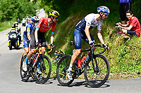 10th July 2021; Carcassonne, France; MARTIN Daniel (IRL) of ISRAEL START-UP NATION, CATTANEO Mattia (ITA) of DECEUNINCK - QUICK-STEP and POELS Wouter (NED) of BAHRAIN VICTORIOUS during stage 14 of the 108th edition of the 2021 Tour de France cycling race, a stage of 183,7 kms between Carcassonne and Quillan