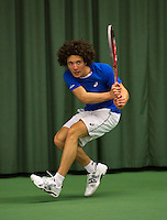 Rotterdam, The Netherlands, 15.03.2014. NOJK 14 and 18 years ,National Indoor Juniors Championships of 2014, Casper Bonapart (NED)<br /> Photo:Tennisimages/Henk Koster
