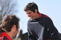 Alastair Cook of England and Essex laughs with his team mates - Essex County Cricket Club Press Day at the Essex County Ground, Chelmsford, Essex - 02/04/13 - MANDATORY CREDIT: Gavin Ellis/TGSPHOTO - Self billing applies where appropriate - 0845 094 6026 - contact@tgsphoto.co.uk - NO UNPAID USE.