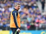 Donal Moloney, Clare joint manager, before their quarter final against Tipperary at Pairc Ui Chaoimh. Photograph by John Kelly.