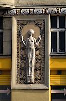 Tschechien, Prag, Jugendstil am Haus Zatecka Nr 5, Unesco-Weltkulturerbe