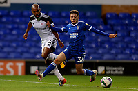 16th September 2020; Portman Road, Ipswich, Suffolk, England, English Football League Cup, Carabao Cup, Ipswich Town versus Fulham; Armando Dobra of Ipswich Town challenges Denis Odoi of Fulham