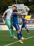 11.10.2020, Marschwegstadion, Oldenburg, GER, RL Nord,, Gruppe Süd VfB Oldenburg vs SV Werder Bremen U23,  DFL regulations prohibit any use of photographs as image sequences and/or quasi-video, im Bild<br /> Marc SCHRÖDER / SCHROEDER (SV Werder Bremen U23 #6 ) Rafael BRAND (VfB Oldenburg #7 )<br /> <br /> Foto © nordphoto / Rojahn