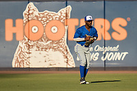 Dunedin Blue Jays outfielder Justin Ammons (3) during a game against the Tampa Tarpons on May 7, 2021 at George M. Steinbrenner Field in Tampa, Florida.  (Mike Janes/Four Seam Images)