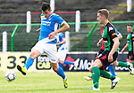 Glentoran v St Johnstone…. 09.07.16  The Oval, Belfast  Pre-Season Friendly<br />Graham Cummins and Ross Redman<br />Picture by Graeme Hart.<br />Copyright Perthshire Picture Agency<br />Tel: 01738 623350  Mobile: 07990 594431