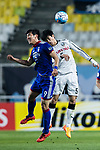Suwon Forward Park Gidong (L) in action against Kawasaki Midfielder Taniguchi Shogo (R) during the AFC Champions League 2017 Group G match between Suwon Samsung Bluewings (KOR) vs Kawasaki Frontale (JPN) at the Suwon World Cup Stadium on 25 April 2017, in Suwon, South Korea. Photo by Yu Chun Christopher Wong / Power Sport Images