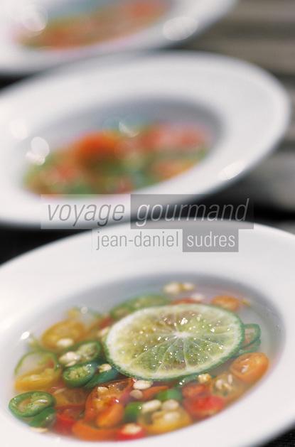 """Asie/Thaïlande/Petchabun : Marinade de piments et citrons verts  - Recette du restaurant de """"l'Imperial Phu Kaew Resort"""""""