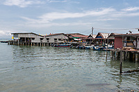 George Town, Penang, Malaysia.  Chew Jetty, a Historic Chinese Settlement.