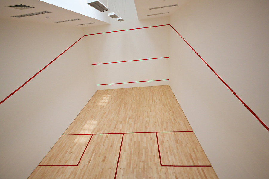 The Restored Squash Court Awaits Its First Game.