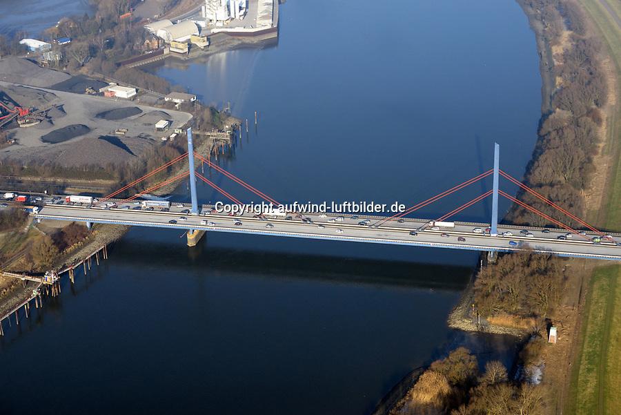 Norderelbbrücke BAB A1: EUROPA, DEUTSCHLAND, HAMBURG, (EUROPE, GERMANY), 28.01.2017: Norderelbbrücke BAB A1 soll abgerissen werden. Geplant ist der 8 Spurige Ausbau.