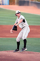 Andrew Gagnon #24 of the Long Beach State Dirtbags pitches against the Arizona State Sun Devils on May 6, 2011 at Packard Stadium, Arizona State University, in Tempe, Arizona. .Photo by:  Bill Mitchell/Four Seam Images.