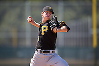 Pittsburgh Pirates pitcher Pasquale Mazzocoli (46) during an Instructional League Intrasquad Black & Gold game on September 21, 2016 at Pirate City in Bradenton, Florida.  (Mike Janes/Four Seam Images)