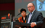 Berlin-Germany - May 23, 2014 -- International Trade Union Confederation - 3rd ITUC World Congress 'Building Workers' Power'; here, Luc Cortebeeck (ri), President of the Confédération des Syndicats Chrétiens (Belgium) with Sharan Burrow (le), ITUC-General Secretary -- Photo: © HorstWagner.eu / ITUC