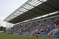 The main Stand at the new Colchester United Stadium - Colchester United vs Athletic Bilbao - Pre Season Friendly at Weston Homes Community Stadium Colchester - 04/08/2008 - MANDATORY CREDIT: Dave Simpson/TGSPHOTO.Self-Billing applies where appropriate. NO UNPAID USE. Tel: 0845 094 6026