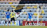 Craig Halkett's shot goes into the net past Wes Foderingham