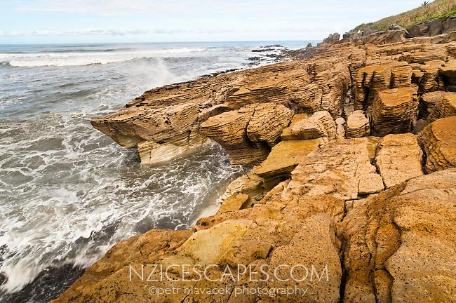 Limestone formations in Punakaiki - Paparoa National Park, West Coast, New Zealand