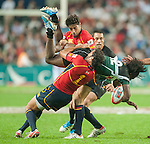 Action during Day 1 of the Cathay Pacific / HSBC Hong Kong Sevens 2012 at the Hong Kong Stadium in Hong Kong, China on 23rd March 2012. Photo © Felix Ordonez  / The Power of Sport Images
