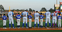 April 9, 2009: Photo of the Myrtle Beach Pelicans, Class A affiliate of the Atlanta Braves, on 2009 opening day at BB&T Coastal Field in Myrtle Beach, S.C. Photo by:  Tom Priddy/Four Seam Images