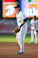 West Michigan Whitecaps first baseman Dominic Ficociello (25) during a game against the Great Lakes Loons on June 5, 2014 at Fifth Third Ballpark in Comstock Park, Michigan.  West Michigan defeated Great Lakes 6-2.  (Mike Janes/Four Seam Images)