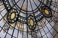 Europe/France/Auvergne/Allier/Vichy: Détail de verrière style Art déco de la salle Berlioz de l'Opéra