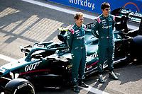 9th September 2021; Nationale di Monza, Monza, Italy; FIA Formula 1 Grand Prix of Italy, Driver arrival and inspection day:  18 Lance Stroll CAN, Aston Martin Cognizant F1 Team , 5 Sebastian Vettel GER, Aston Martin Cognizant F1 Team