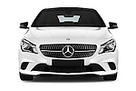 Car photography straight front view of a 2016 Mercedes Benz CLA - 4 Door Sedan Front View