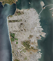 aerial photo map of San Francisco, California, 2014.  For a more recent version of this view, please contact Aerial Archives.