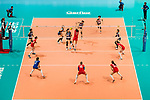 Wing spiker Sarina Koga of Japan (C) spikes the ball during the FIVB Volleyball World Grand Prix match between Japan vs Russia on 23 July 2017 in Hong Kong, China. Photo by Marcio Rodrigo Machado / Power Sport Images