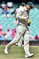 9th January 2021; Sydney Cricket Ground, Sydney, New South Wales, Australia; International Test Cricket, Third Test Day Three, Australia versus India; David Warner of Australia in the field