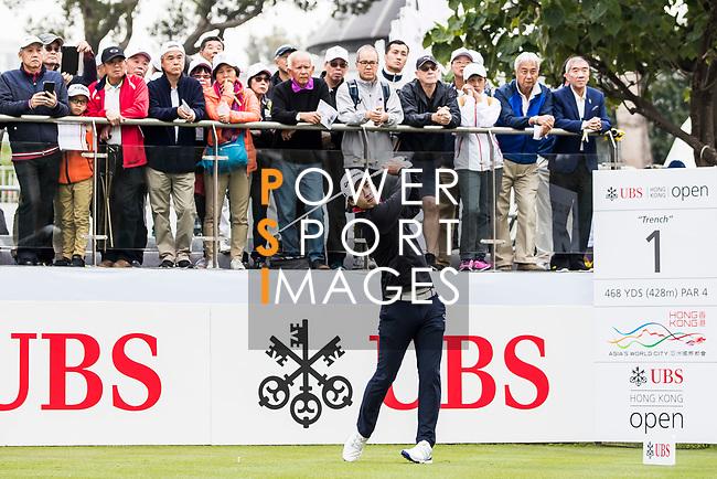 Yikeun Chang of South Korea tees off during the day three of UBS Hong Kong Open 2017 at the Hong Kong Golf Club on 25 November 2017, in Hong Kong, Hong Kong. Photo by Yu Chun Christopher Wong / Power Sport Images