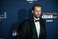Nicolas Duvauchelle ‡ la 42e CÈrÈmonie des CÈsars ‡ l'arrivÈe sur le tapis rouge de la salle Pleyel ‡ Paris le 24 fÈvrier 2017