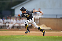 Damon Dues (40) (Wright State University) of the Wilson Tobs takes off for second base during the game against the High Point-Thomasville HiToms at Finch Field on July 17, 2020 in Thomasville, NC. The Tobs defeated the HiToms 2-1. (Brian Westerholt/Four Seam Images)