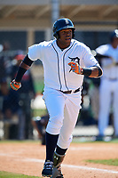 Detroit Tigers Ignacio Valdez (64) during a Minor League Spring Training game against the Atlanta Braves on March 22, 2018 at the TigerTown Complex in Lakeland, Florida.  (Mike Janes/Four Seam Images)
