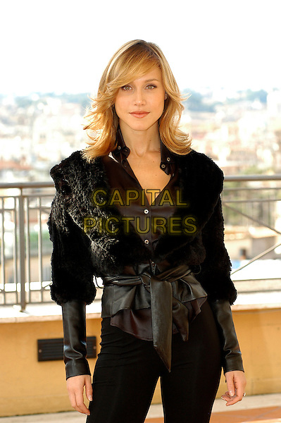 "GABRIELLA PESSION.Photocall for ""Milano-Palermo: il ritorno"", Rome, Italy..November 15th, 2007.half length black jacket fur .CAP/CAV.©Luca Cavallari/Capital Pictures."