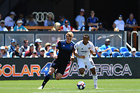 SAN JOSE, CA - JUNE 8: Jackson Yueill #14, Jacori Hayes #15 during a game between FC Dallas and San Jose Earthquakes at Avaya Stadium on June 8, 2019 in San Jose, California.
