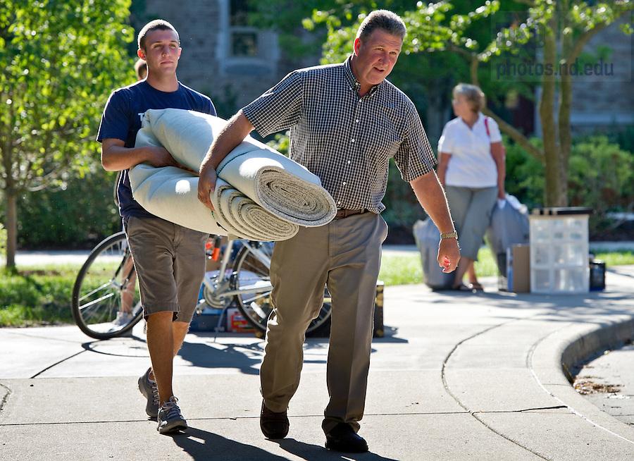 Aug. 17, 2012; Move-in 2012...Photo by Matt Cashore/University of Notre Dame