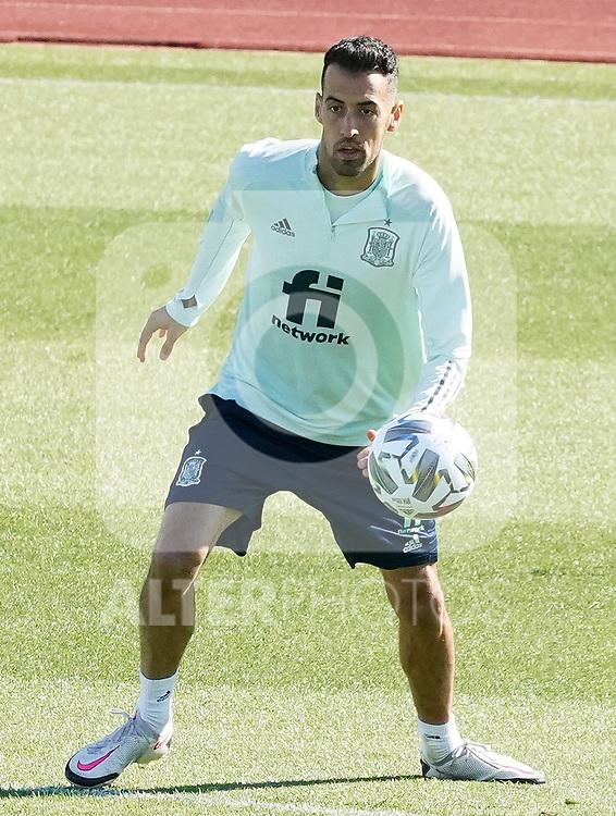 Spain's Sergio Busquets during training session. October 6,2020.(ALTERPHOTOS/Acero)