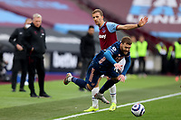 21st March 2021; London Stadium, London, England; English Premier League Football, West Ham United versus Arsenal; Thomas Soucek of West Ham United fouls Calum Chambers of Arsenal