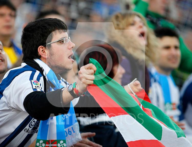 Real Sociedad's supporters during La Liga match.March 17,2012. (ALTERPHOTOS/Acero)