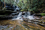 The Lower falls and rainforest at Somersby Falls near Gosford on the Central Coast, NSW, Australia