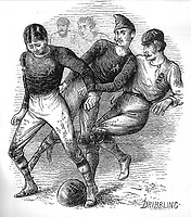 BNPS.co.uk (01202 558833)<br /> Pic: Pen&SwordBooks/BNPS<br /> <br /> Pictured: A contemporary sketch of the first match.<br /> <br /> A historian believes he has uncovered a previously unknown participant in the first ever FA Cup final.<br /> <br /> James Bancroft is convinced Lieutenant George Barker represented the Royal Engineers in the 1872 final against the Wanderers.<br /> <br /> However, he is not listed in any official records or football books written about the showpiece occasion.<br /> <br /> Mr Bancroft said he has found newspaper reports with Lt Barker on the team-sheet and he appears in full kit in the Royal Engineers post-match team photo.<br /> <br /> He outlines his theory in his new book, The Early Years of the FA Cup, which charts the rise and fall of the Royal Engineers, the only military team to win the trophy.