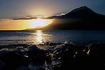 Sunset on ilha do Pico, Açores, 2005.