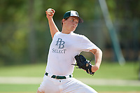 Robert Yudin (9) during the WWBA World Championship at the Roger Dean Complex on October 10, 2019 in Jupiter, Florida.  Robert Yudin attends Martin County High School in Stuart, FL and is Uncommitted.  (Mike Janes/Four Seam Images)