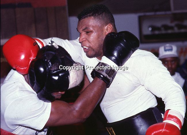 1989<br />tyson training at toccos gym<br />photo credit: CHRIS FARINA copyright 2000