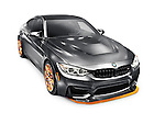 2016 BMW M4 GTS high-performance car matte gray metallic sports car isolated on white background with clipping path Image © MaximImages, License at https://www.maximimages.com