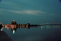 Twilight descends on Newport Harbor