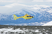 Norwegian Air Ambulance (NLA) and Airbus Helicopters perform test flights.<br /> <br /> (photo: Fredrik Naumann/Felix Features)