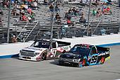 #51: Brandon Jones, Kyle Busch Motorsports, Toyota Tundra Chigo/Menards and #99: Ben Rhodes, ThorSport Racing, Ford F-150 Carolina Nut