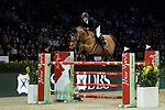 Kevin Staut of France riding Ayade de Septon et HDC in action in the the Longines Speed Challenge during the Longines Masters of Hong Kong at AsiaWorld-Expo on 10 February 2018, in Hong Kong, Hong Kong. Photo by Ian Walton / Power Sport Images