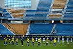 General view before the  La Liga match round 10 between Cadiz CF and Real Sociedad at Ramon of Carranza Stadium in Cadiz, Spain, as the season resumed following a three-month absence due to the novel coronavirus COVID-19 pandemic. Nov 22, 2020. (ALTERPHOTOS/Manu R.B.)